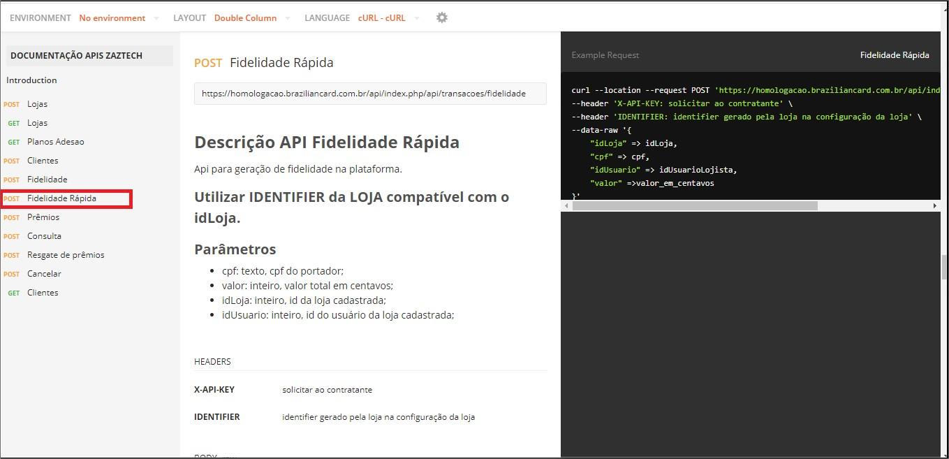 Tela API - Dev